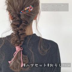 ガーリー ロング デート ヘアセット ヘアスタイルや髪型の写真・画像