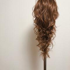 ヘアセット フェミニン 編みおろしヘア ロング ヘアスタイルや髪型の写真・画像