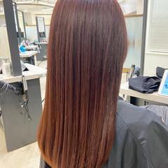 髪質改善 ピンク フェミニン ベリーピンク ヘアスタイルや髪型の写真・画像