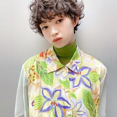 ショート ショートヘア くせ毛風 パーマ ヘアスタイルや髪型の写真・画像