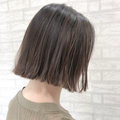女子力 ハイライト 外ハネ ボブ ヘアスタイルや髪型の写真・画像