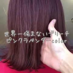 フェミニン ブリーチ 外国人風 ボブ ヘアスタイルや髪型の写真・画像
