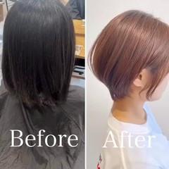 ショート ショートヘア 小顔ショート フェミニン ヘアスタイルや髪型の写真・画像
