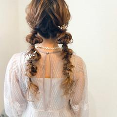 ロング ヘアセット ヘアアレンジ 結婚式 ヘアスタイルや髪型の写真・画像