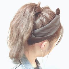 ポニーテールアレンジ ポニーアレンジ ヴィーナスコレクション ポニーテール ヘアスタイルや髪型の写真・画像