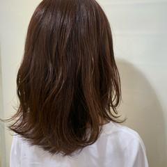 セミロング 透明感カラー レイヤーカット パープル ヘアスタイルや髪型の写真・画像