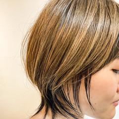 ウルフ女子 ニュアンスウルフ ショート ショートヘア ヘアスタイルや髪型の写真・画像