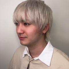 ハイトーンカラー 東京 プラチナブロンド メンズカラー ヘアスタイルや髪型の写真・画像