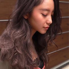 フェミニン ロング バレイヤージュ ゆるふわ ヘアスタイルや髪型の写真・画像