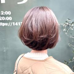イルミナカラー ナチュラル シンプルボブ 透明感カラー ヘアスタイルや髪型の写真・画像