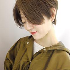簡単スタイリング ショート アウトドア ハンサムショート ヘアスタイルや髪型の写真・画像