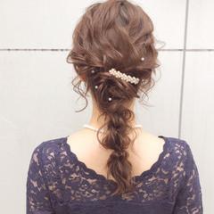 デート ロング 結婚式 アンニュイほつれヘア ヘアスタイルや髪型の写真・画像