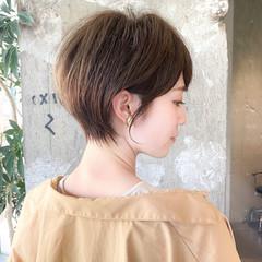 大人ショート 丸みショート ショートカット ショートヘア ヘアスタイルや髪型の写真・画像