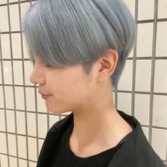 ハンサムショート ブルーアッシュ 大人ショート モード ヘアスタイルや髪型の写真・画像
