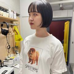 ボブアレンジ ボブ ナチュラル ミニボブ ヘアスタイルや髪型の写真・画像
