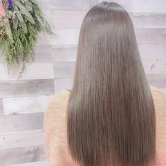 イルミナカラー 艶髪 ナチュラル グレージュ ヘアスタイルや髪型の写真・画像