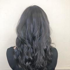 アッシュグレージュ ブルージュ アッシュ ロング ヘアスタイルや髪型の写真・画像