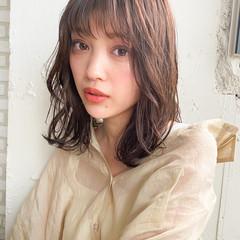 モテ髮シルエット ミディアムレイヤー ミディアム モテ髪 ヘアスタイルや髪型の写真・画像