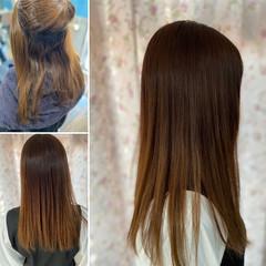 縮毛矯正 ロング エレガント 髪質改善 ヘアスタイルや髪型の写真・画像