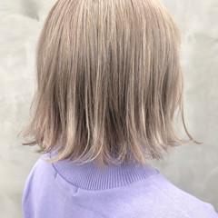 切りっぱなし ハイトーン ダブルカラー ストリート ヘアスタイルや髪型の写真・画像