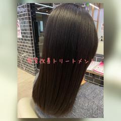 トリートメント ナチュラル セミロング ストレート ヘアスタイルや髪型の写真・画像