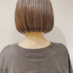 透明感カラー 前下がりボブ ボブ まとまるボブ ヘアスタイルや髪型の写真・画像