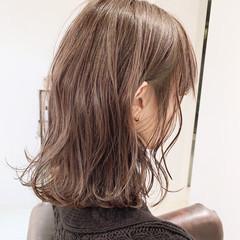 簡単ヘアアレンジ ブラウンベージュ ミディアム 外国人風カラー ヘアスタイルや髪型の写真・画像