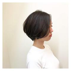 マッシュ 耳かけ ヘアアレンジ ショート ヘアスタイルや髪型の写真・画像