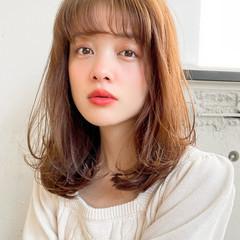 デジタルパーマ エレガント 小顔 ロブ ヘアスタイルや髪型の写真・画像