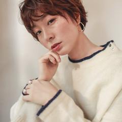 ハンサムショート ショート 外国人風 フェミニン ヘアスタイルや髪型の写真・画像