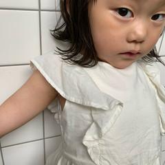 子供 オン眉 ナチュラル キッズカット ヘアスタイルや髪型の写真・画像