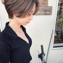 ショートヘア ナチュラル ショートボブ グラデーションボブ ヘアスタイルや髪型の写真・画像
