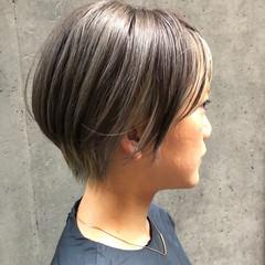 ショートボブ インナーカラー ショート ショートヘア ヘアスタイルや髪型の写真・画像