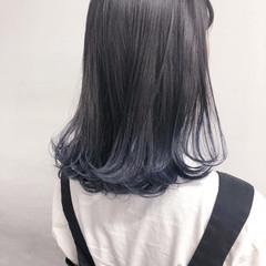 ストリート グラデーションカラー コリアンネイビー ネイビーブルー ヘアスタイルや髪型の写真・画像