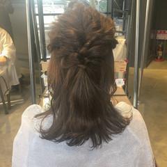 セミロング ヘアアレンジ 結婚式アレンジ 二次会ヘア ヘアスタイルや髪型の写真・画像