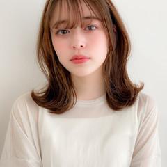 デジタルパーマ モテ髪 ミディアム ミディアムレイヤー ヘアスタイルや髪型の写真・画像