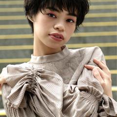 簡単ヘアアレンジ 大人女子 ナチュラル 黒髪 ヘアスタイルや髪型の写真・画像