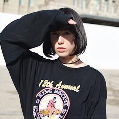 ショートボブ ボブ オリーブ オリーブグレージュ ヘアスタイルや髪型の写真・画像