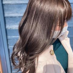 韓国風ヘアー グレージュ ナチュラル ブリーチなし ヘアスタイルや髪型の写真・画像