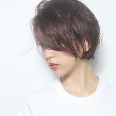ショートヘア 前髪なし モード アンニュイ ヘアスタイルや髪型の写真・画像