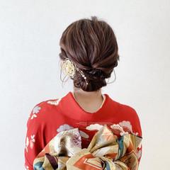 和装ヘア ボブ 振袖ヘア 着物 ヘアスタイルや髪型の写真・画像