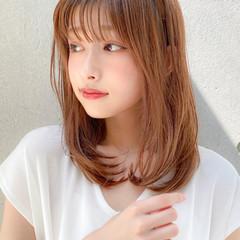 モテ髪 大人可愛い ゆるふわパーマ セミロング ヘアスタイルや髪型の写真・画像