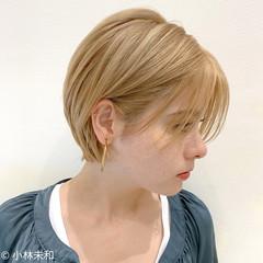 ニュアンスパーマ 外国人風カラー ショート ナチュラル ヘアスタイルや髪型の写真・画像
