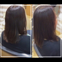 ナチュラル 黒髪 社会人の味方 髪質改善トリートメント ヘアスタイルや髪型の写真・画像