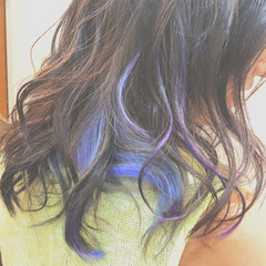 ストリート バレイヤージュ グラデーションカラー グレージュ ヘアスタイルや髪型の写真・画像