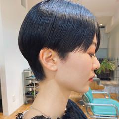 ミニボブ 黒髪ショート ベリーショート ショートヘア ヘアスタイルや髪型の写真・画像