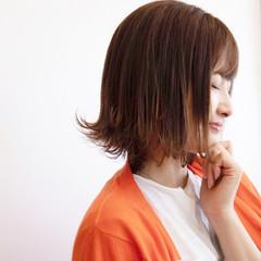 外ハネボブ 外ハネ ミディアム 大人女子 ヘアスタイルや髪型の写真・画像