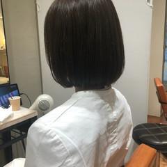 切りっぱなしボブ 外ハネ ボブ ミニボブ ヘアスタイルや髪型の写真・画像