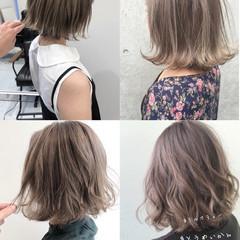 切りっぱなしボブ ショートヘア ミニボブ 大人ハイライト ヘアスタイルや髪型の写真・画像
