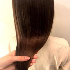 髪質改善トリートメント ベージュ ナチュラル ロング ヘアスタイルや髪型の写真・画像